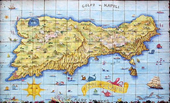 Capri and anacapri map on